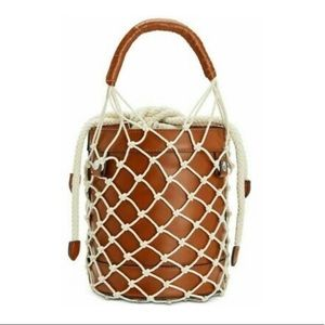 Steve Madden Cognac Bucket Bag NWT